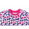 Dětská noční košile modro růžová srdíčka detai krku