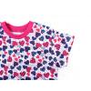 Dětská noční košile modro růžová srdíčka detai rukávu