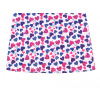 Dětská noční košile modro růžová srdíčka detai rukávu detail