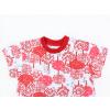 Dětská noční košile Červený les detail krku