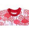 Dětská noční košile Červený les detail krku2