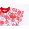 Dětská noční košile Červený les detail rukávu