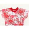 Dětské pyžamo s krátkým rukávem červený les kraťasy¨ detail krku