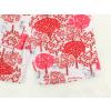 Dětské pyžamo s krátkým rukávem červený les kraťasy¨ detail nohavice