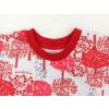 Dětské pyžamo s krátkým rukávem červený les kraťasy detail nápletu