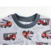 Dětské pyžamo hasiči na šedé detail krku