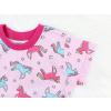 Dětské pyžamo s krátkým rukávem jednorožci detail rukávu