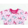 Dětské pyžamo s krátkým rukávem jednorožci detail
