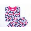 Dětské pyžamo modrorůžová srdíčka detail