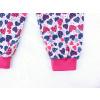 Dětské pyžamo modrorůžová srdíčka detail nohavic