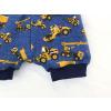 Dětské pumpky stavební stroje jeans detail nohavice