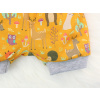 Dětské pumpky lesní zvířátka na hořčicové detail nohavice