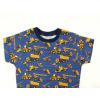 Dětské triko Bagry na džínové detail