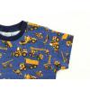 Dětské triko Bagry na džínové detail rukávu