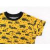 Dětské triko Bagry na hořčicové detail rukávu