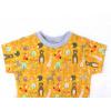 Dětské triko Lesní zvířátka na hořčicové detail krku