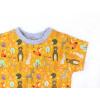 Dětské triko Lesní zvířátka na hořčicové detail rukávu