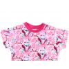 Dětské růžové triko koaly detail