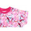 Dětské růžové triko koaly detail rukávu