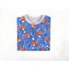 Dětské modré triko lišky detail2