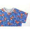 Dětské modré triko lišky detail rukávu