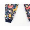 Dětské letní softshellové kalhoty zvířátka detail nohavice