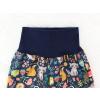 Dětské letní softshellové kalhoty zvířátka detail pasu