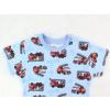 Dětské pyžamo s krátkým rukávem hasiči detail