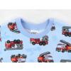 Dětské pyžamo s krátkým rukávem hasiči detail krku