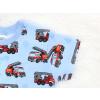 Dětské pyžamo s krátkým rukávem hasiči detail rukávu