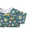 Dětské triko srnky na petrolejové detail krku