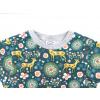 Dětské triko srnky na petrolejové detail rukávu
