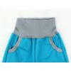 Letní tyrkysové softshellové kalhoty detail pasu