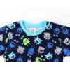 Dětské pyžamo příšerky na modré detail krku