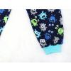 Dětské pyžamo příšerky na modré detail nohavice