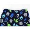 Dětské pyžamo příšerky na modré detail pasu