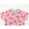 Dětské triko lišky na růžové detail krku