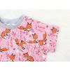 Dětské triko lišky na růžové detail rukávu