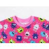 Dětské pyžamo příšerky na růžové detail zadního dílu