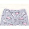 Dětské pyžamo Růžoví jednorožci na šedé detail pasu u kalhot