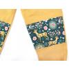 Dětské tepláky s dvojitými koleny srnky na hořčicové detail
