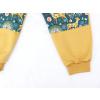 Dětské tepláky s dvojitými koleny srnky na hořčicové detail nohavice