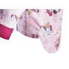 Dětské pyžamo s jednorožci - detail prodlouženého zadního dílu