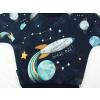 Dětská mikina vesmír detail panelu