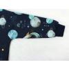 Dětská mikina vesmír detail rukávu