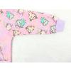 Dětská růžová mikina sovičky detail rukávu