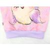 Dětská růžová mikina sovičky detail spodního lemu