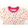 Dětské dívčí pyžamo kytičky detail krku