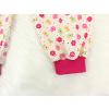 Dětské dívčí pyžamo kytičky detail nohavice