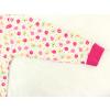 Dětské dívčí pyžamo kytičky detail rukávu